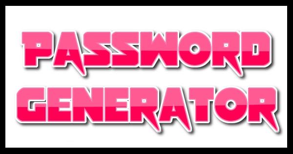 Random Password Generator Tool