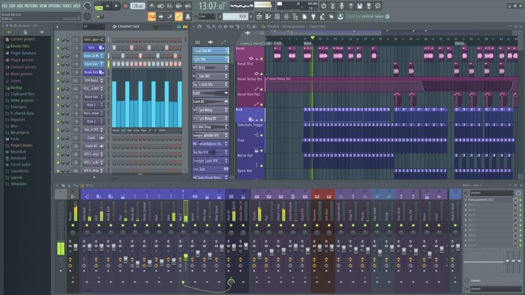 FL Studio - GarageBand for PC alternative
