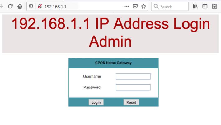 192.168.1.1 IP Address Login Admin